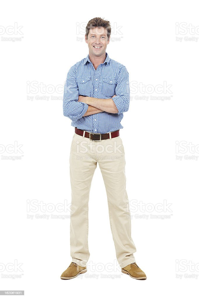 Confident and content stock photo