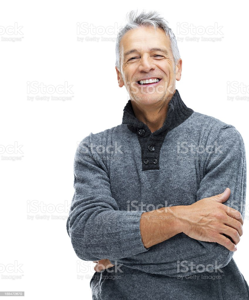 Confident and contented stock photo