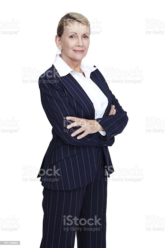 Confident and experienced royalty-free stock photo