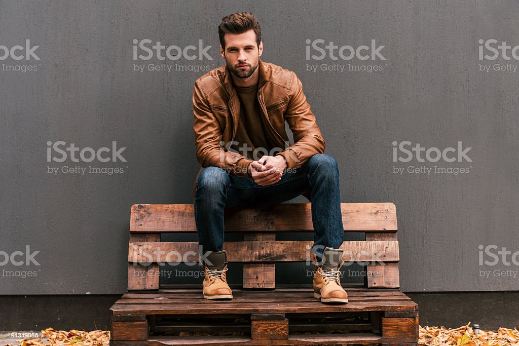 Confident and handsome. stock photo