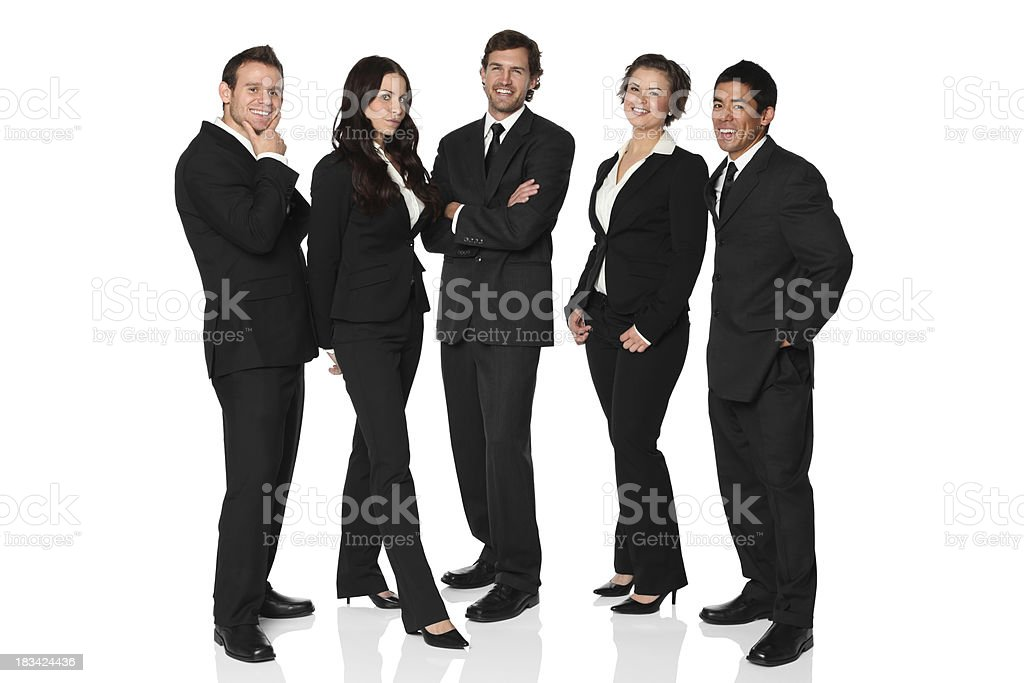 Confident and happy young business team stock photo