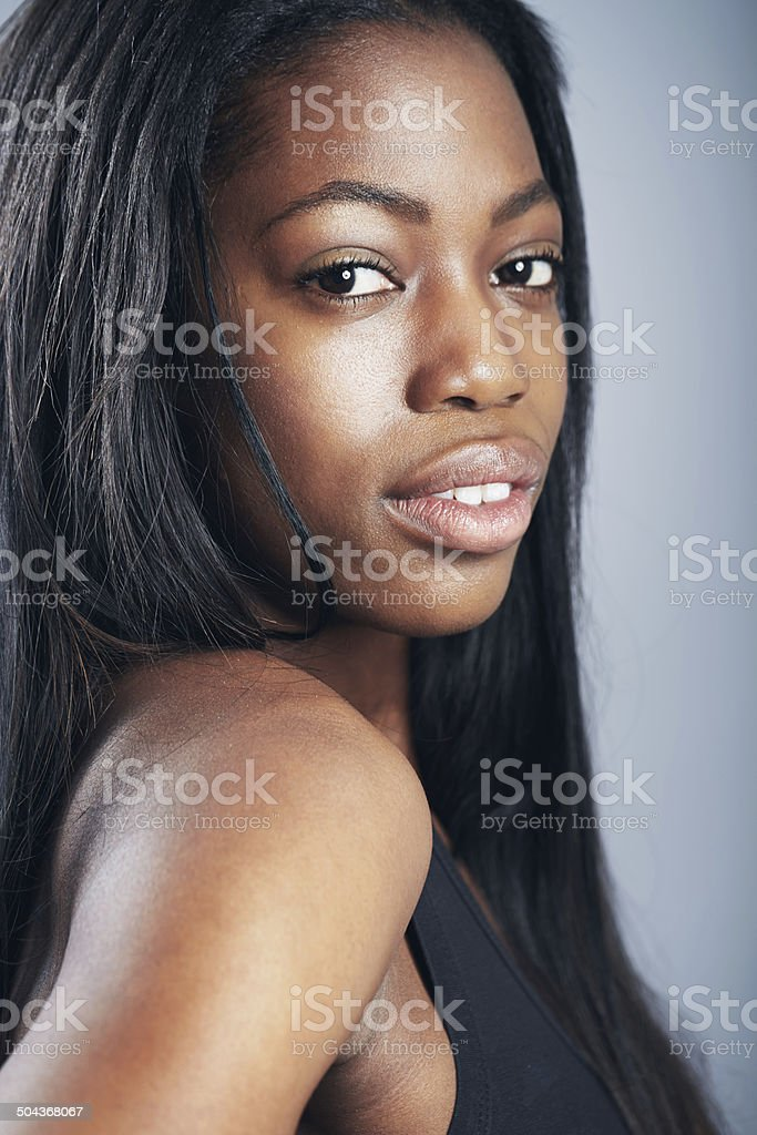 Confident and naturally beautiful stock photo