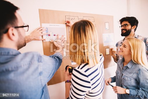 842214626istockphoto Confident and satisfied team of young people looking proudly at the paper with salary progress. 942111014
