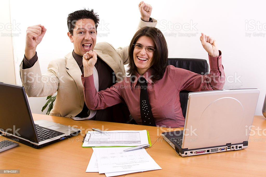 confident and successful business team royalty-free stock photo