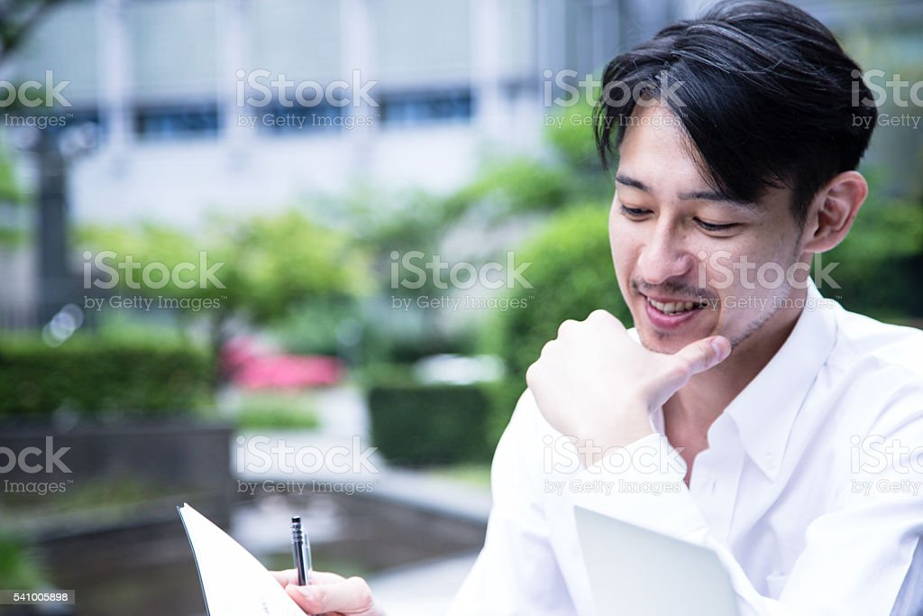 Confident and Successful Businessman stock photo