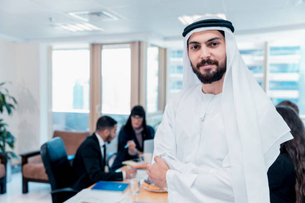 Confident Arab Businessman Looking At The Camera stock photo