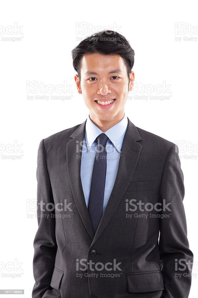 Confident Asian Businessman stock photo