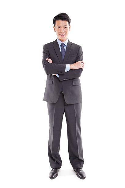 大胆なアジアのビジネスマン - 全身 ストックフォトと画像