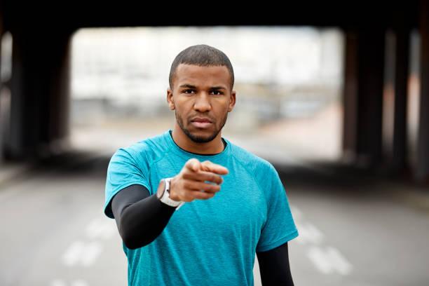 Zuversichtlich Athleten zeigen sich in Stadt aufhalten – Foto