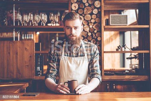 istock Confident barista. 522151864