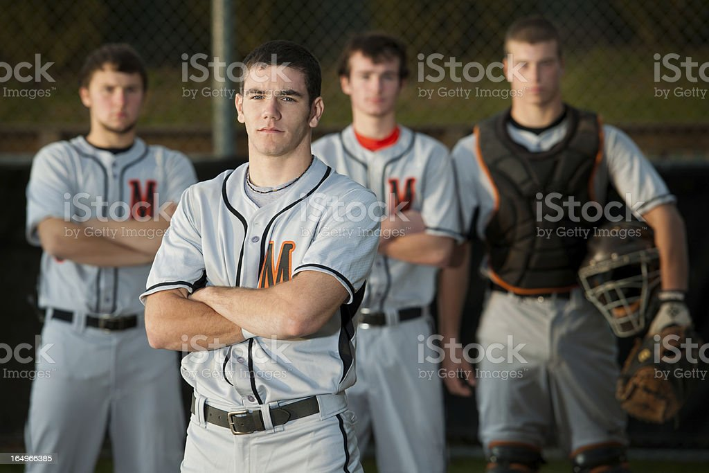 Confident Baseball Players (Portrait) stock photo