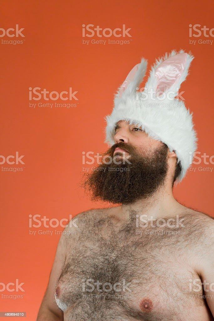 Confident Bunny Man stock photo