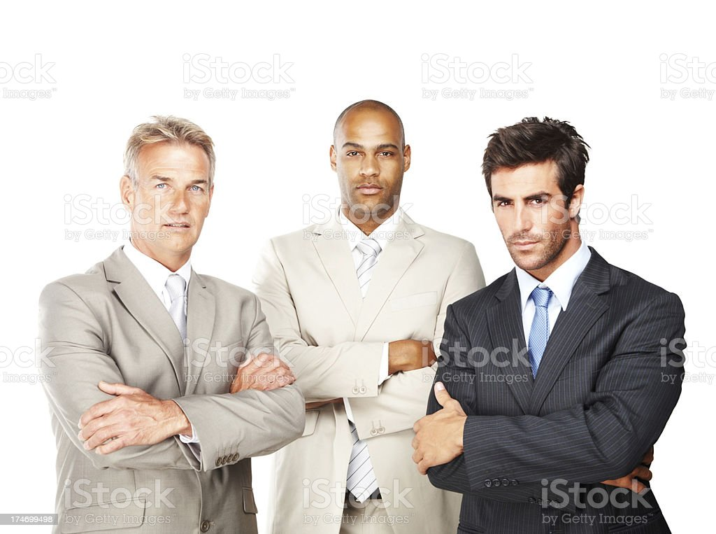 Confident business colleagues standing together royalty-free stock photo
