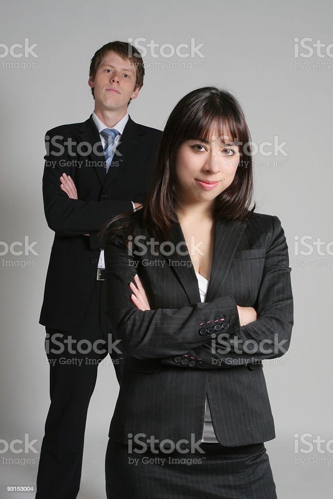 Confident Business Couple royalty-free stock photo