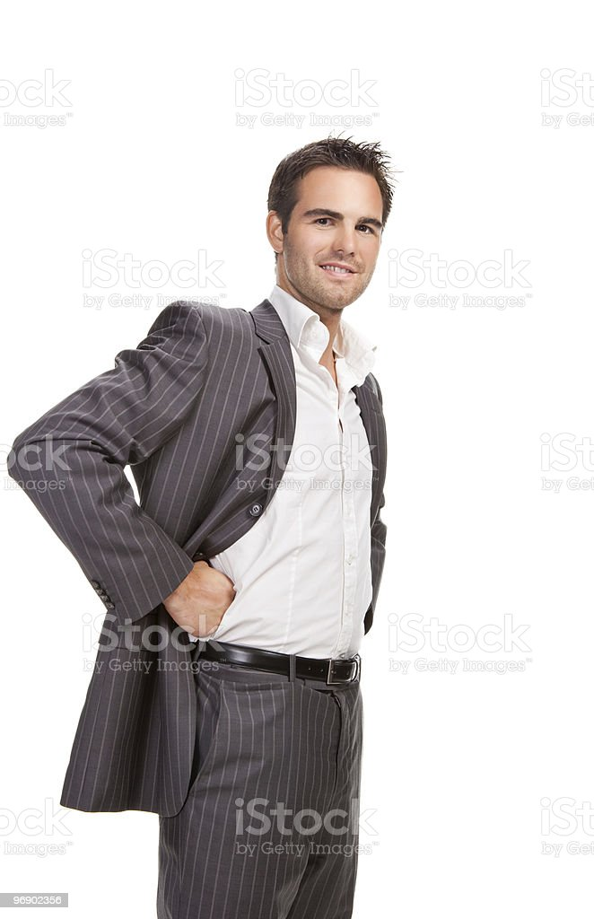 confident business man isolated over white background royalty-free stock photo