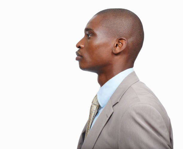confident business man - profile view stock photos and pictures