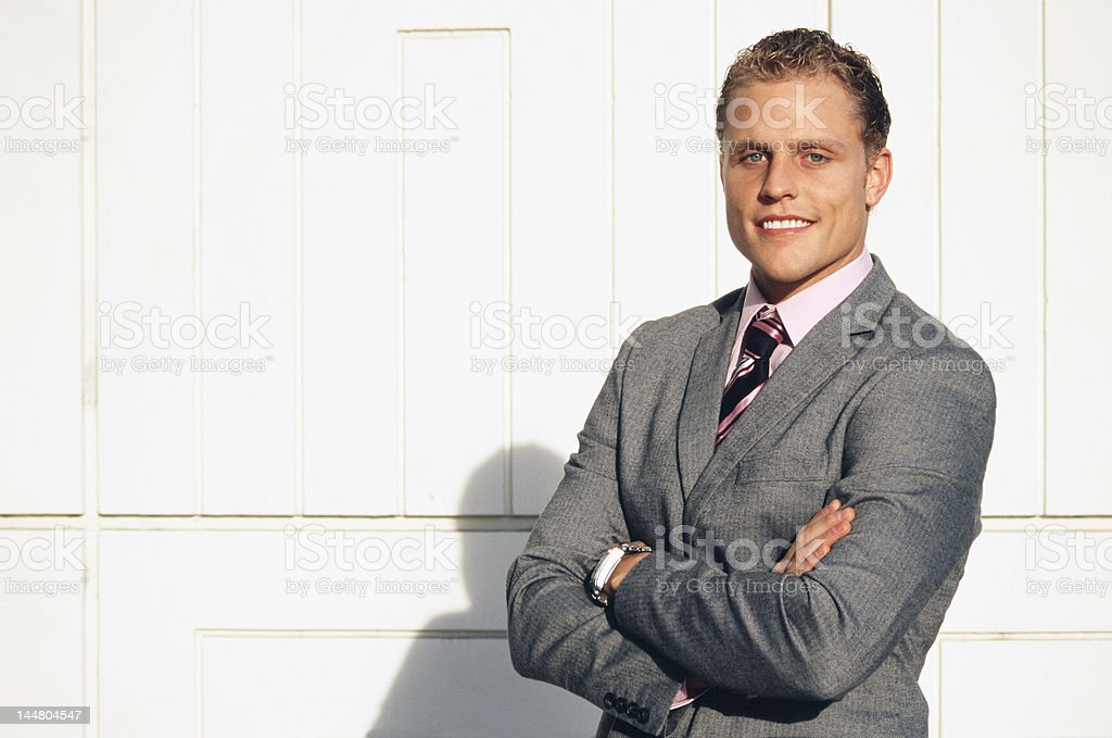 Confident Business Man Smiling royalty-free stock photo