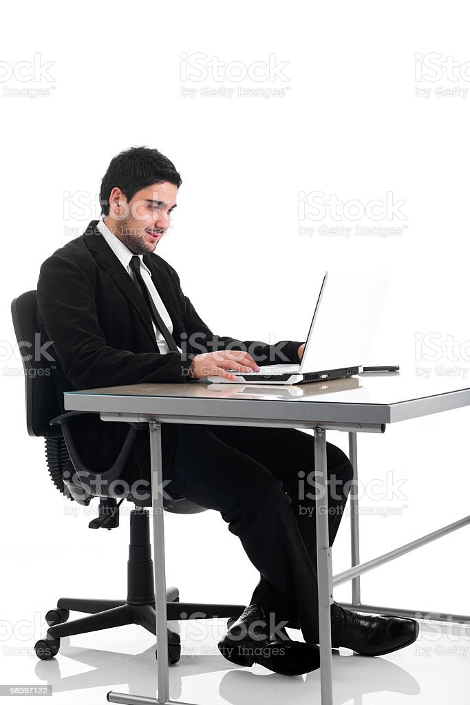 Confident business man working in office royalty-free stock photo