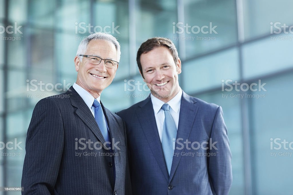 Confident business men stock photo
