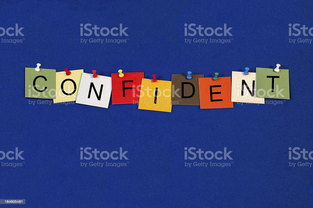 Confident - Business Sign royalty-free stock photo