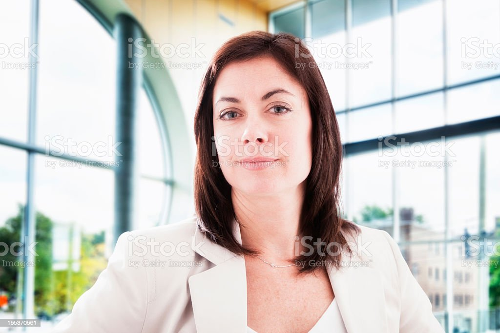 Confident business woman in mordern building royalty-free stock photo