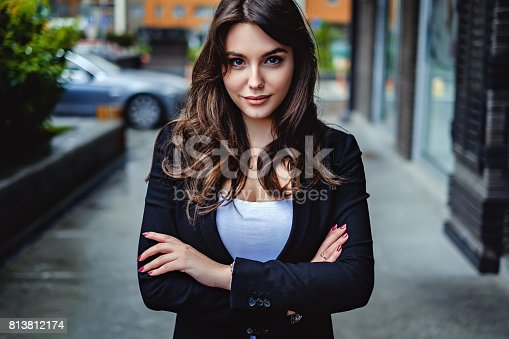 istock Confident business woman looking at the camera 813812174