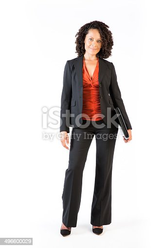 istock Confident Business Woman of mixed race 496600029