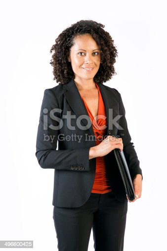 istock Confident Business Woman of mixed race 496600425