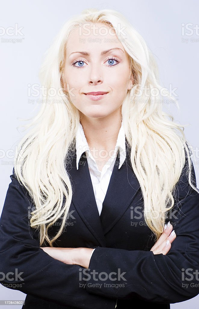 Confident business woman. royalty-free stock photo