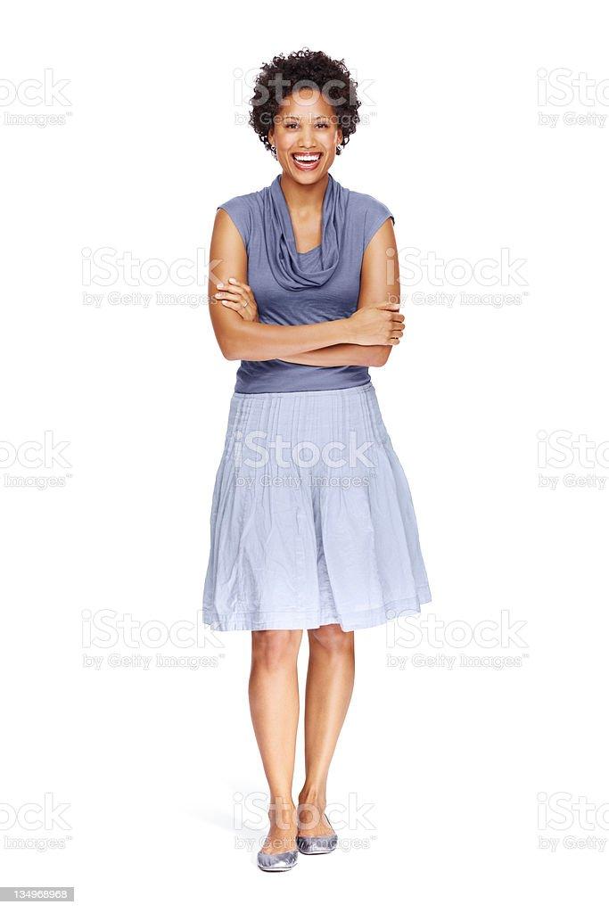 Confident business woman posing stock photo