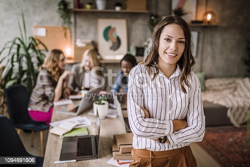 682363912istockphoto Confident Business Woman Representing Her Team 1094691606