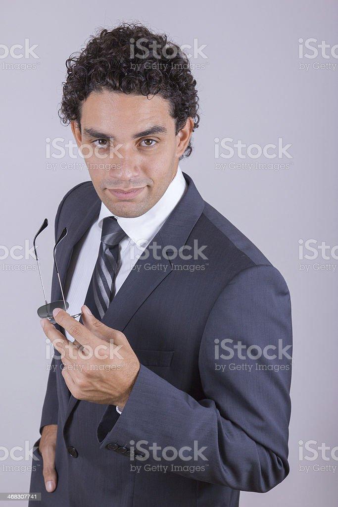 confident businessman in suit stock photo