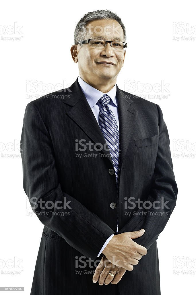 Confident Businessman - Isolated stock photo