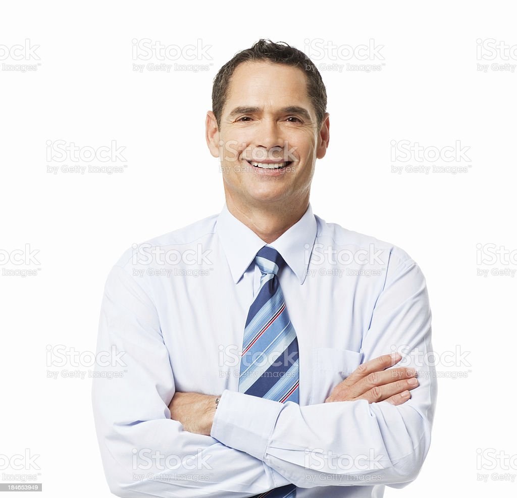 Confident Businessman - Isolated royalty-free stock photo