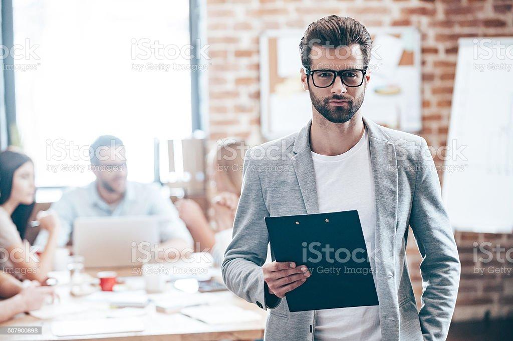 Confident businessman. stock photo