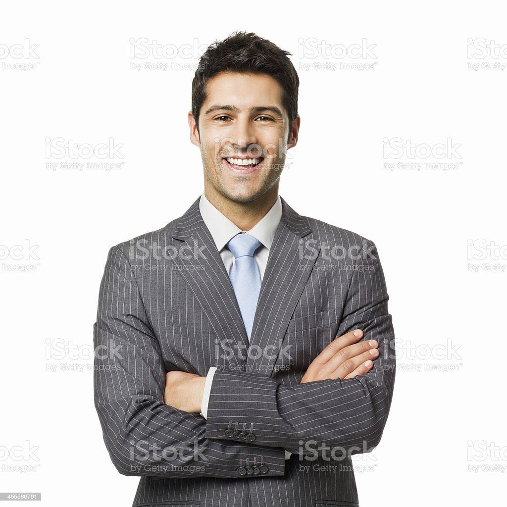 Zuversichtlich Geschäftsmann Porträt-isoliert – Foto