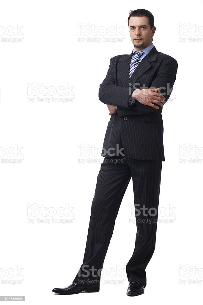Confident Businessman Standing royalty-free stock photo