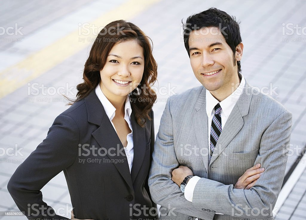 Confident businesspartners royalty-free stock photo