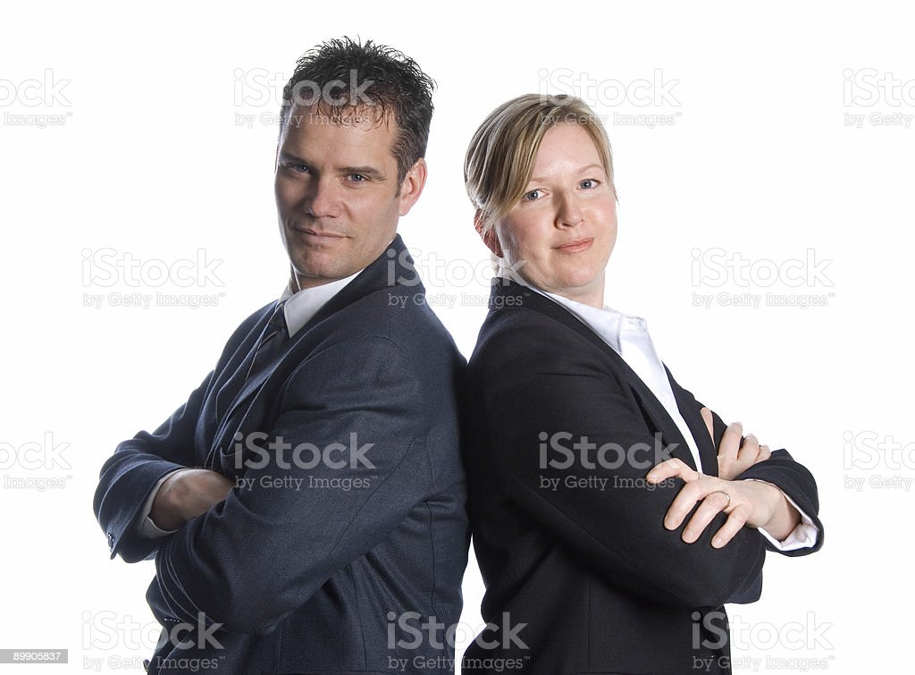 confident businesspeople royalty-free stock photo