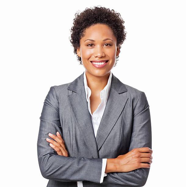 Zuversichtlich Geschäftsfrau-isoliert – Foto