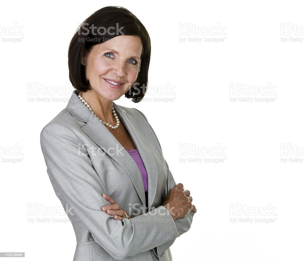 Confident businesswoman royalty-free stock photo