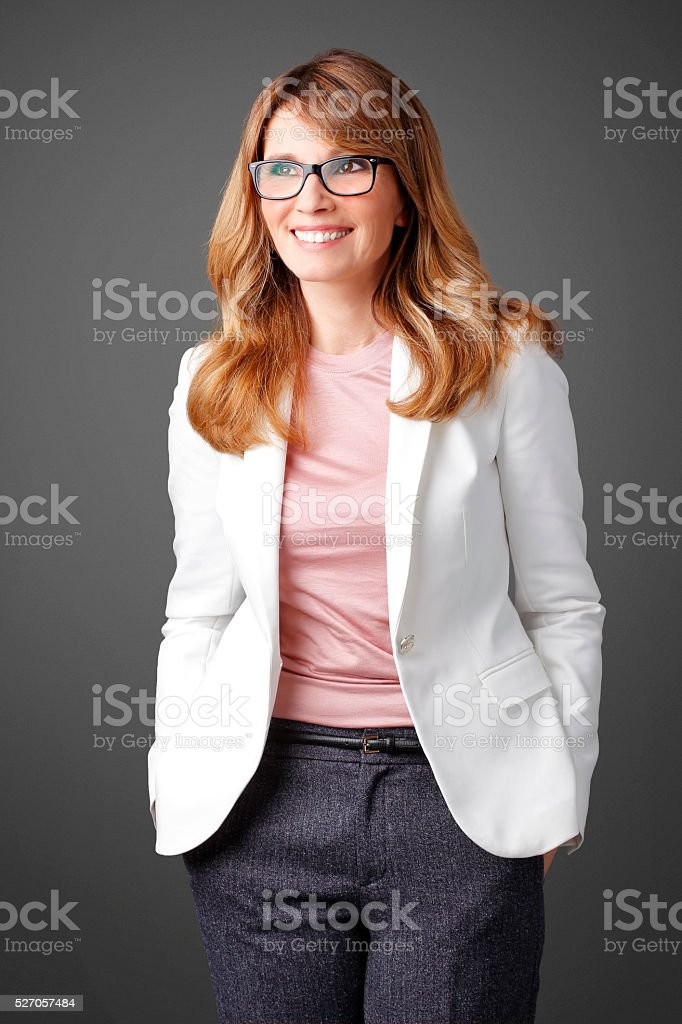 Confident businesswoman portrait stock photo
