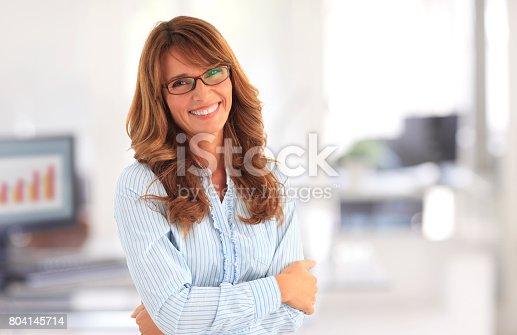 istock Confident businesswoman portrait 804145714