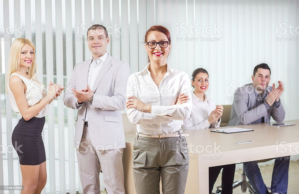 Confident Businesswoman Standing Arms Crossed. royalty-free stock photo