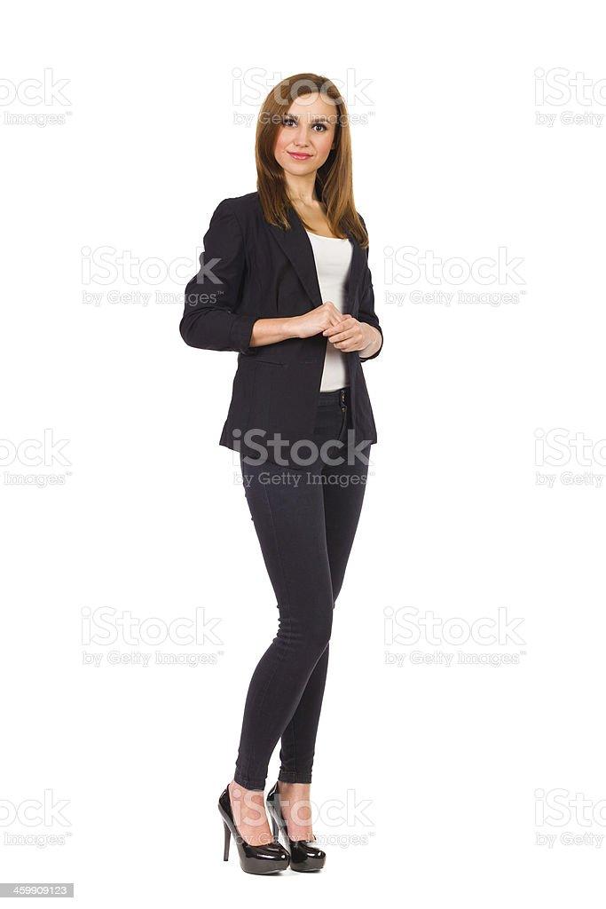 Confident businesswoman standing. stock photo