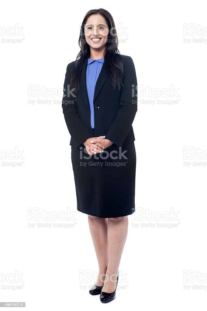 Confident businesswoman standing stock photo