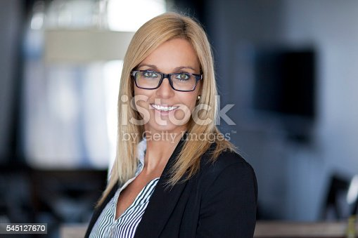 istock Confident Businesswoman Working At The Office 545127670