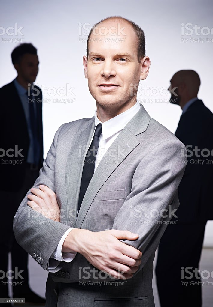 Confident CEO royalty-free stock photo