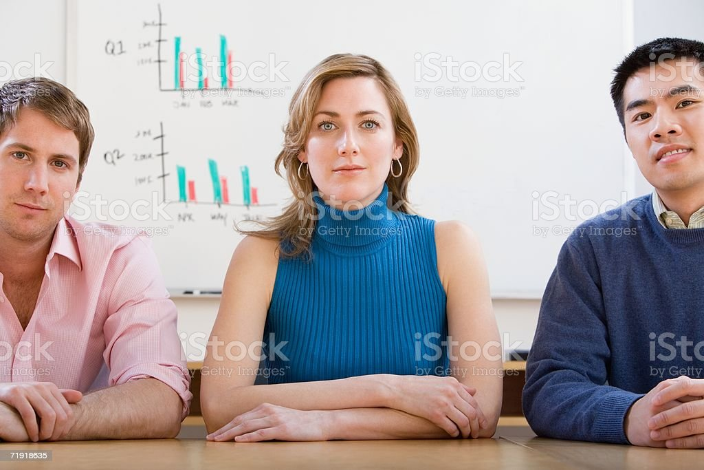 Confident colleagues royalty-free stock photo
