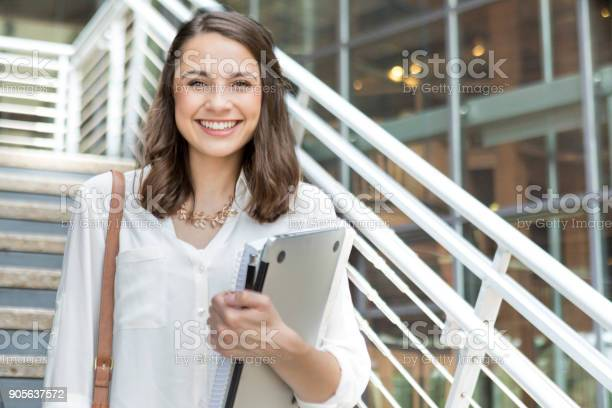 Confident college student on her way to class picture id905637572?b=1&k=6&m=905637572&s=612x612&h=lzjkt6h cidwcbkzhjjclammviv1o1bsttxdelj2eue=